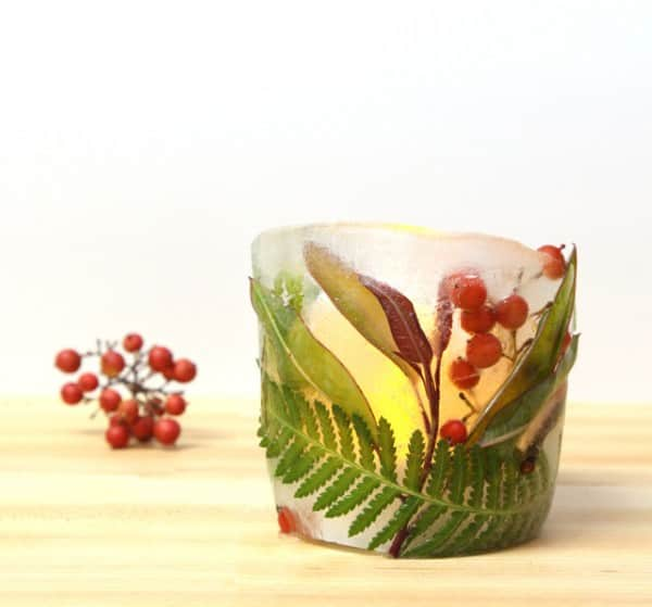 Make Botanical Ice Luminaries Do-It-Yourself Ideas Wood & Organic