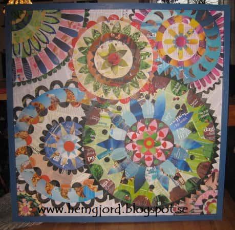 Mandala Wall Decoration Recycled Art
