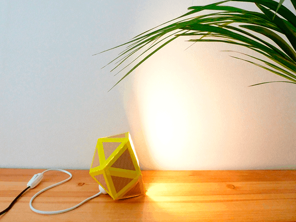Recycled Cardboard Origami Lamp Lamps & Lights Recycled Cardboard