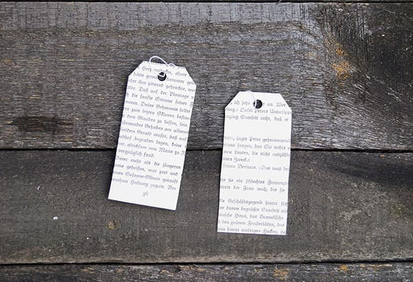 Upcycled Book Gift Tags Recycling Paper & Books