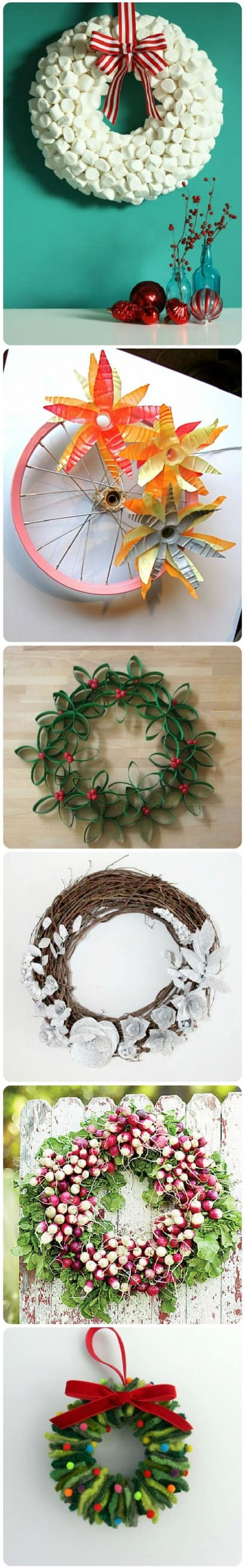 15 Stunning Repurposed DIY Wreaths