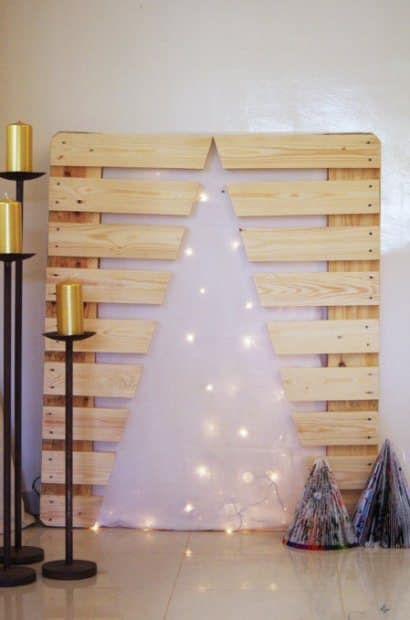 Xmas tree with pallet leftover