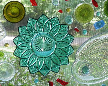 Recycled Glass Window Art