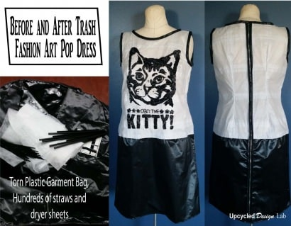 Art Pop Trash Fashion Show Dress