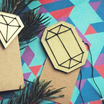 DIY gem gift tag