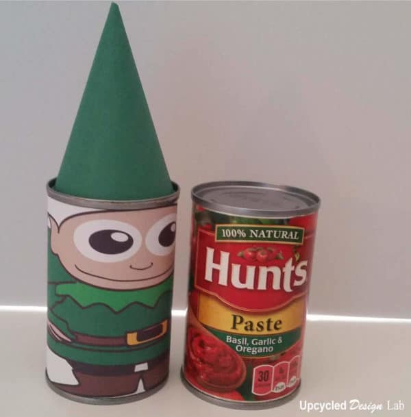 Upcycled Tin Can Christmas Nesting Dolls – Free Printable Do-It-Yourself Ideas