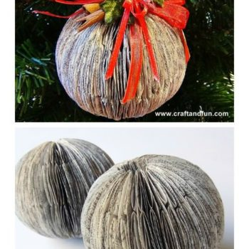 Recycled Book Crafts - DIY Christmas Balls