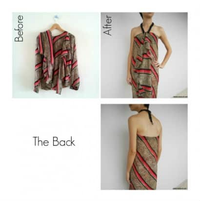 Upcycled Top into Chic Wrap
