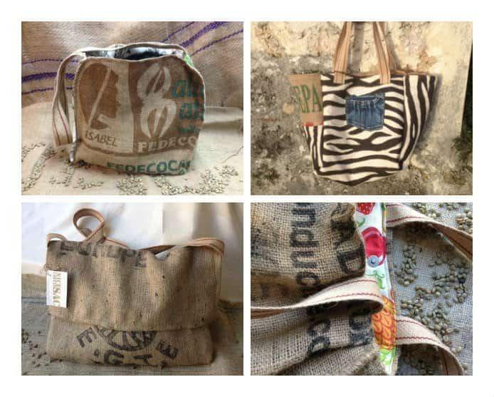 """""""Nice coffee sac"""": Bags made from upcycled coffee sacs"""
