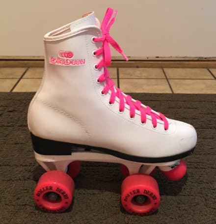 Vintage roller skates transformed into cool new shoes