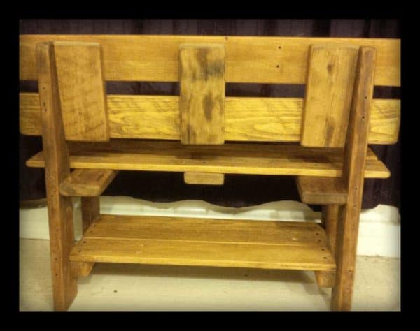 Toddler Benches Created from Upcycled Pallet Wood Recycled Pallets