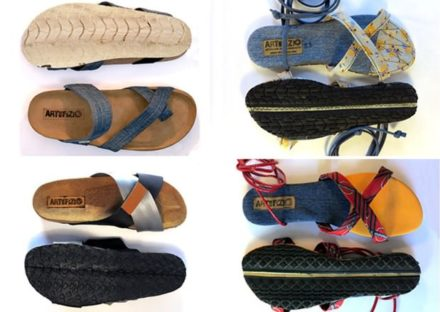 UPcycling Art Community – Campaign for Recycled Tires Sandal