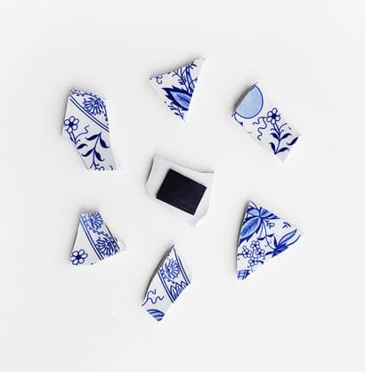 Porcelain Fragments For The Fridge