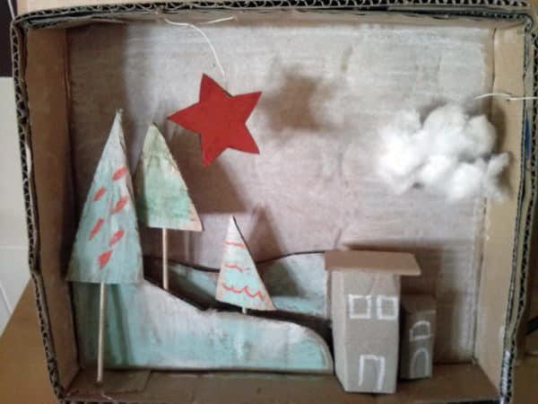 Cardboard Christmas Cards Recycled Cardboard
