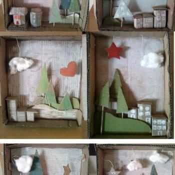 Cardboard Christmas Cards