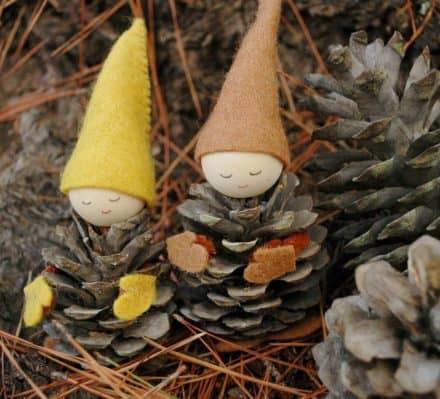 Diy: Pinecones Gnomes