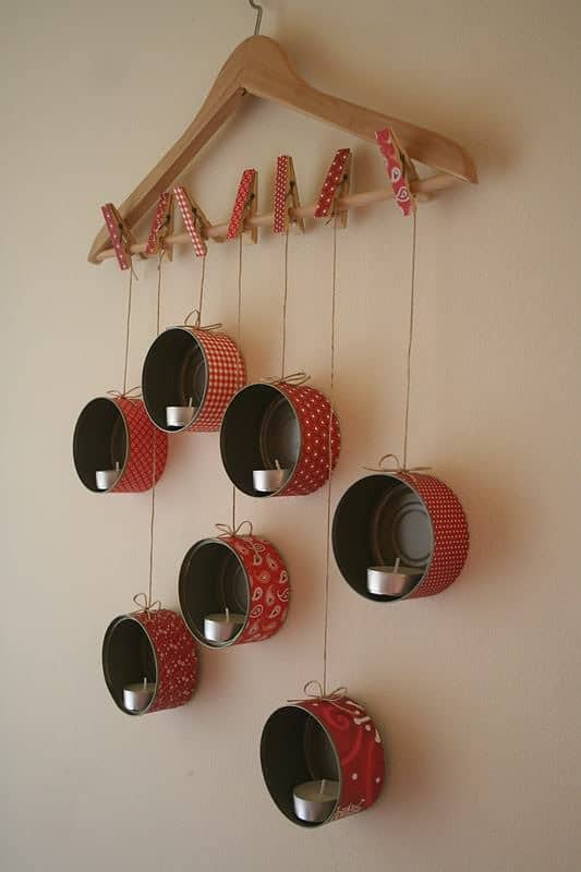 Diy: Hangingtin Lanterns For X-mas Do-It-Yourself Ideas Recycling Metal