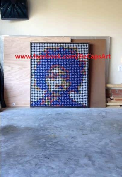 New Bottle Cap Art by Recaps Recycled Art