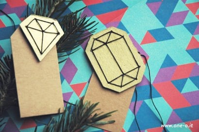 DIY gem gift tag