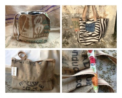 """Nice coffee sac"": Bags made from upcycled coffee sacs"