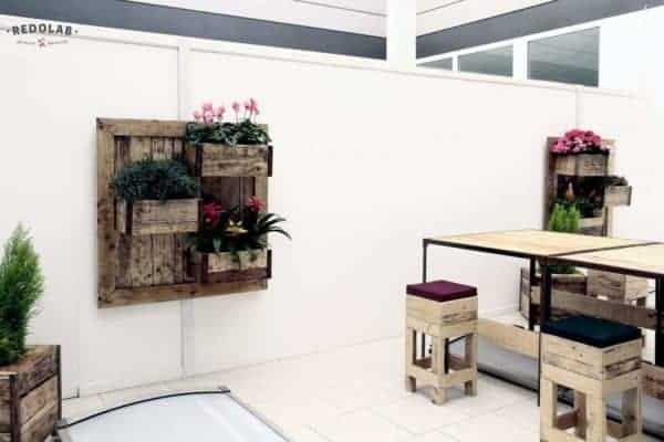 Furniture with Roof Garden by Redolab Recycled Furniture Wood & Organic