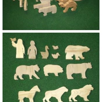 Noah's Ark and Animals from Recycled Pallet Wood