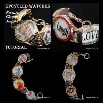 Upcycled Watches - Picture Charm Bracelet Tutorial