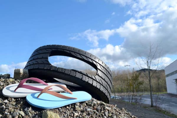 Tireflops: a Fashionable and Sustainable Footwear Solution Accessories Recycled Rubber
