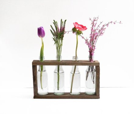 Bottle vase holder