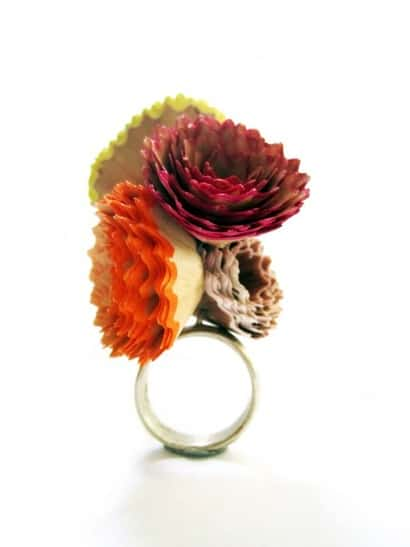Pencil shavings jewelry by Mae Alandes
