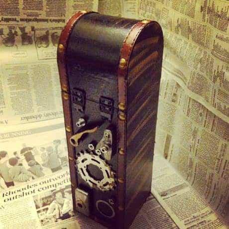 Decorative Bike Enthusiast Wine Gift Box Accessories