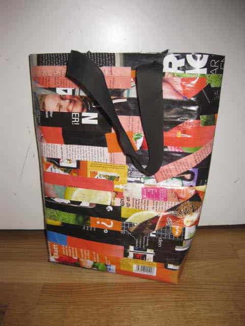 Paperbag Made from Recycled Magazines Accessories Recycling Paper & Books