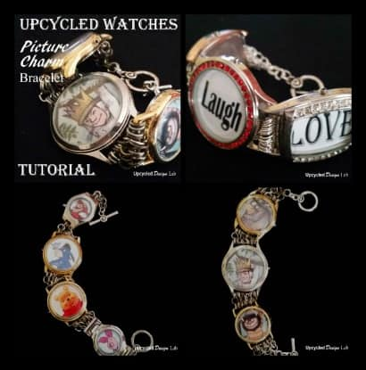 Upcycled Watches – Picture Charm Bracelet Tutorial