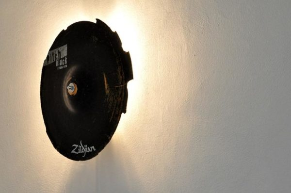 Broken Cymbals Upcycled Into Wall Lamp Lamps & Lights
