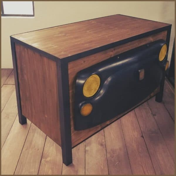 Tribute to old car industrial desk recycled ideas recyclart - Bureau vintage industriel ...