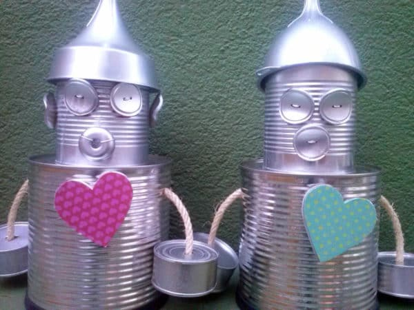 Els Homes Llauna / The Tin Man Recycled Art Recycled Packaging