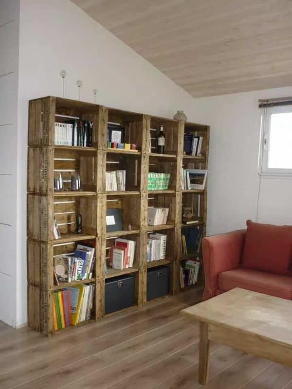 Créations Modulables En Caisses à Pommes / Upcycled Apple Wooden Crates as Modular Furniture Do-It-Yourself Ideas Recycled Furniture