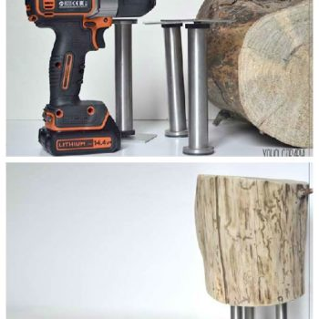 DIY: Wood Log Nightstand