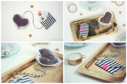 DIY Heart Tea Bags + Envelope
