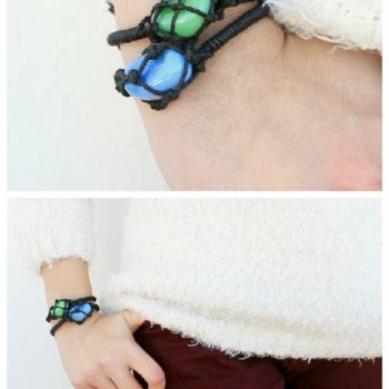 DIY: Netted Stone Friendship Bracelets