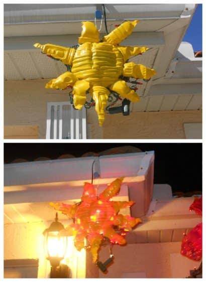 Eco Friendly Sunburst with LED Lights
