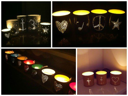 Candle Light From Upcycled Old Cans