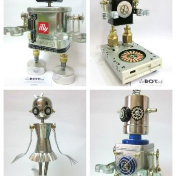 deBOTed – Handmade ROBOTS & ANDROID Figures made with Recycled Elements and Daily Use Objects.