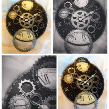 Upcycled Bike Parts Into Industrial Clock