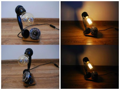 Upcycled Phone Into Lamp
