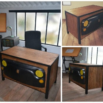 """Tribute To Old Car"" Industrial Desk"