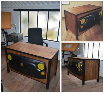 """""""Tribute To Old Car"""" Industrial Desk"""
