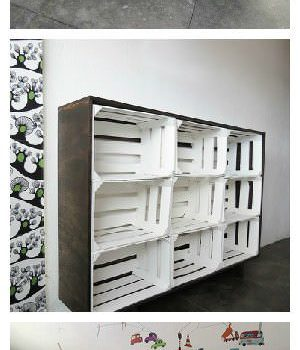 Crates Used As Storage