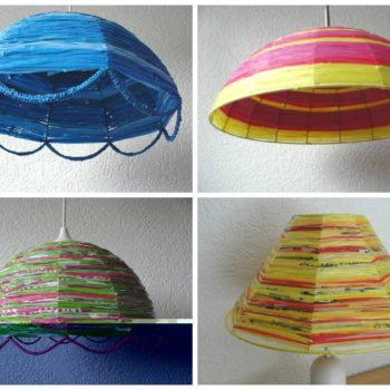 Lampshades Made From Recycled Plastic Bags