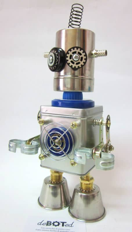 Deboted - Handmade Robots & Android Figures Made with Recycled Elements and Daily Use Objects. Recycled Art